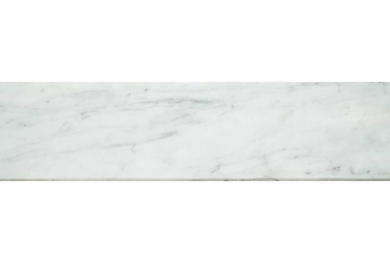 Mármol Blanco Carrara Zoclo Bisel De 10Xdif P/U
