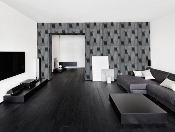 Vista de aplicación de Limestone Black Collection