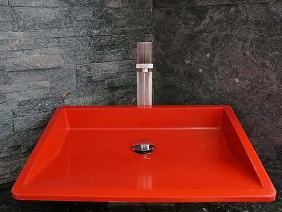 Lavabo Quarzo Red Oblique Gloss