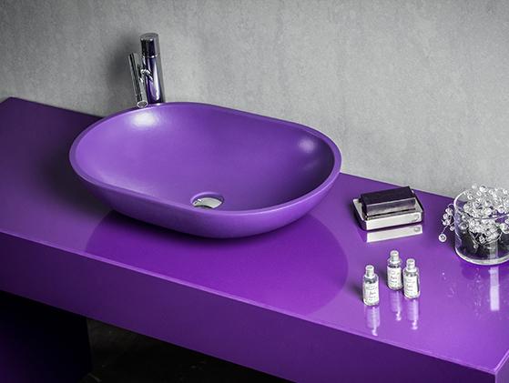 Lavabo Quarzo Viola Glamour Oval Gloss