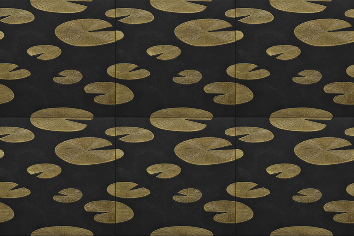 Limestone Black With Brass Monet Collection
