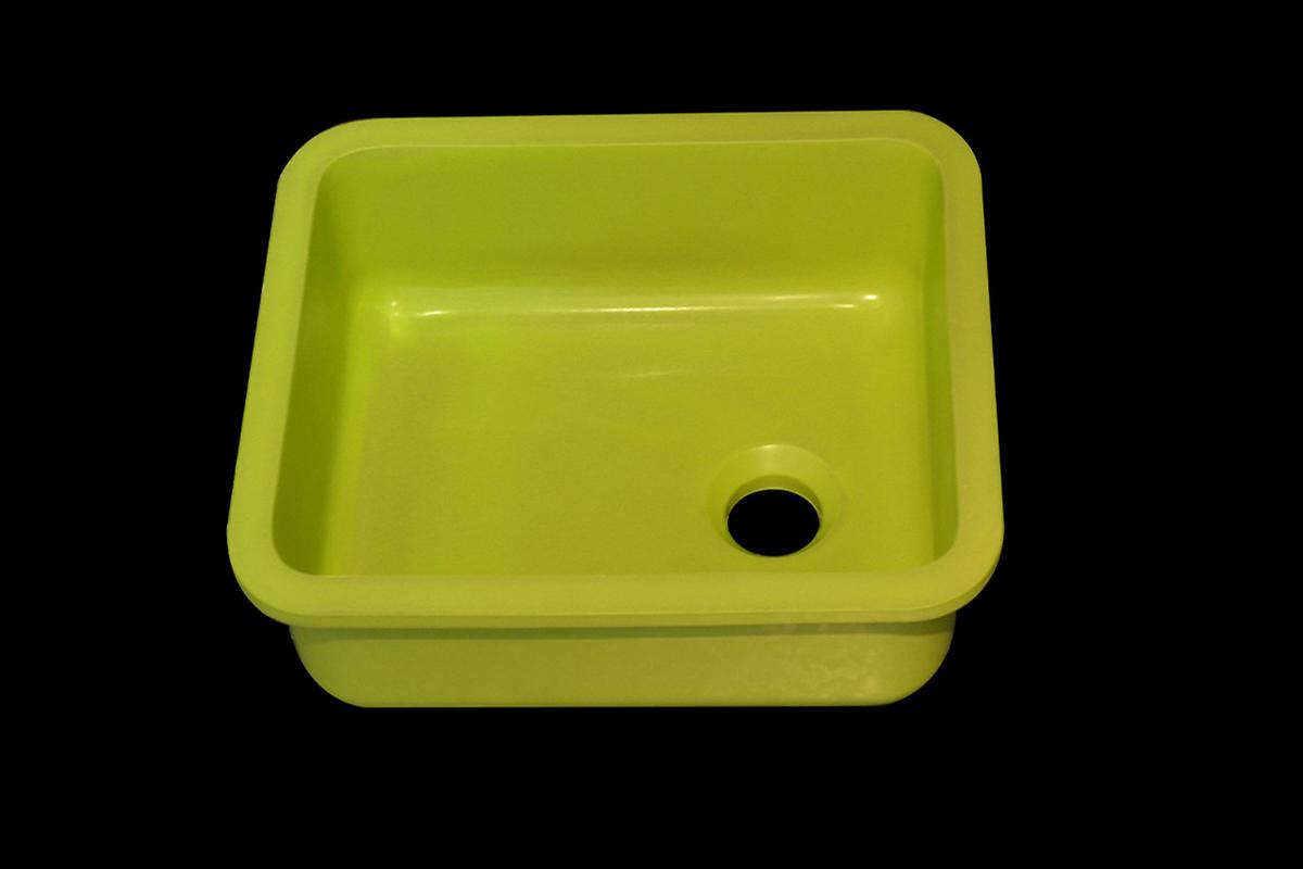 Lavabo Quarzo Verde Milano Mini Cube Gloss