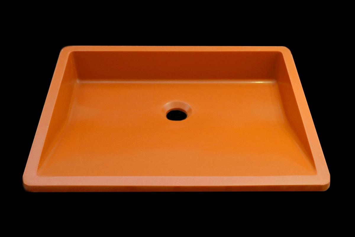 Lavabo Quarzo Orange Oblique Gloss