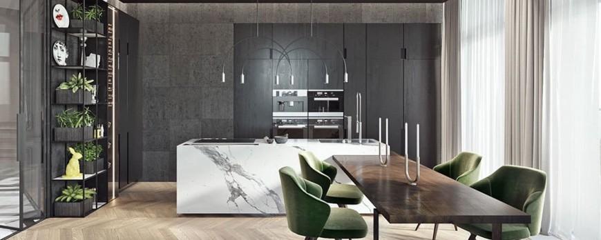 9 razones para diseñar cocinas de Mármol