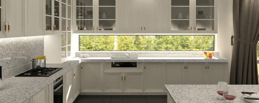 Para una cubierta de cocina ¿Mármol o granito?